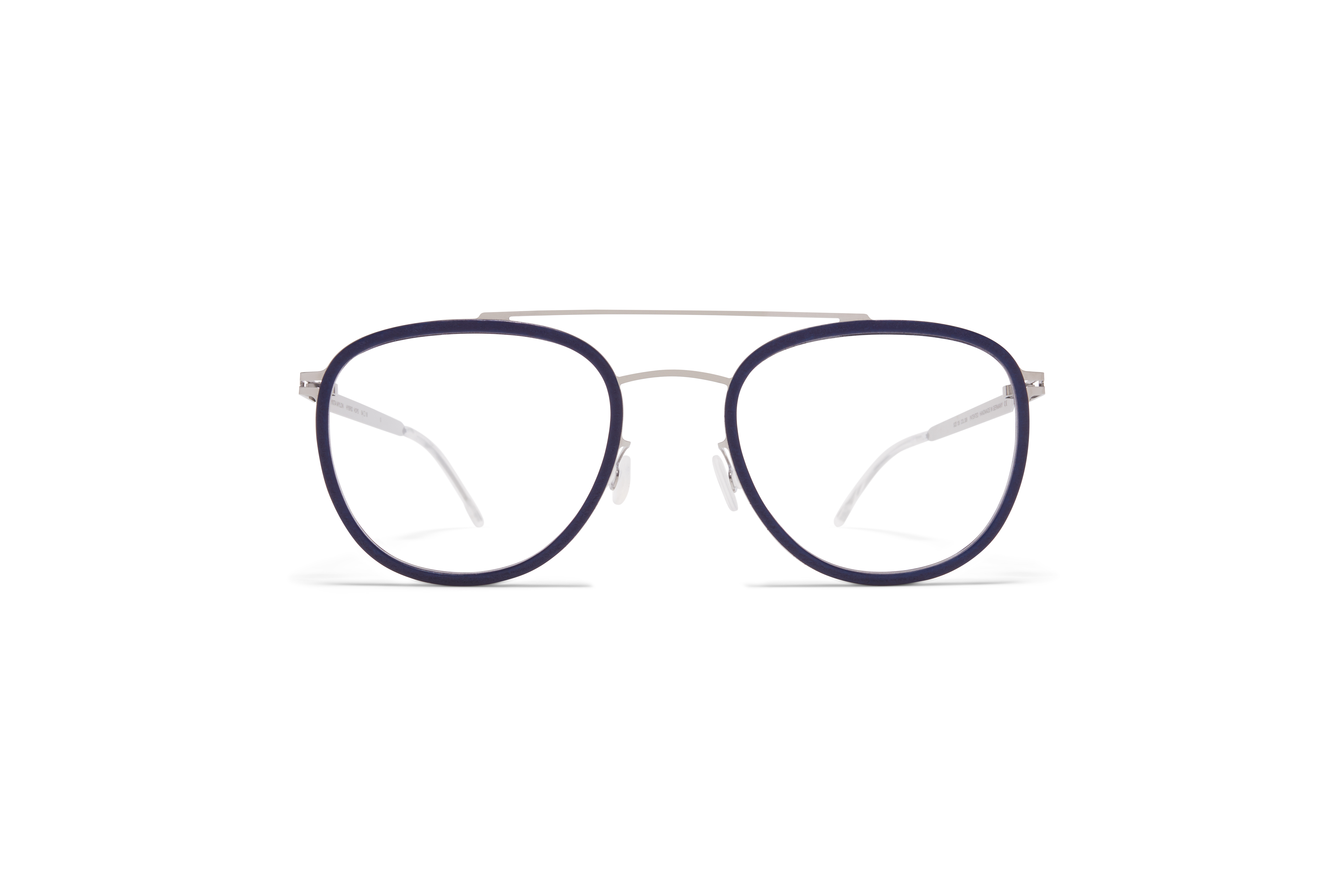 MYKITA Mylon Rx Hops Mh10 Navy Blue Shiny Silver Clear