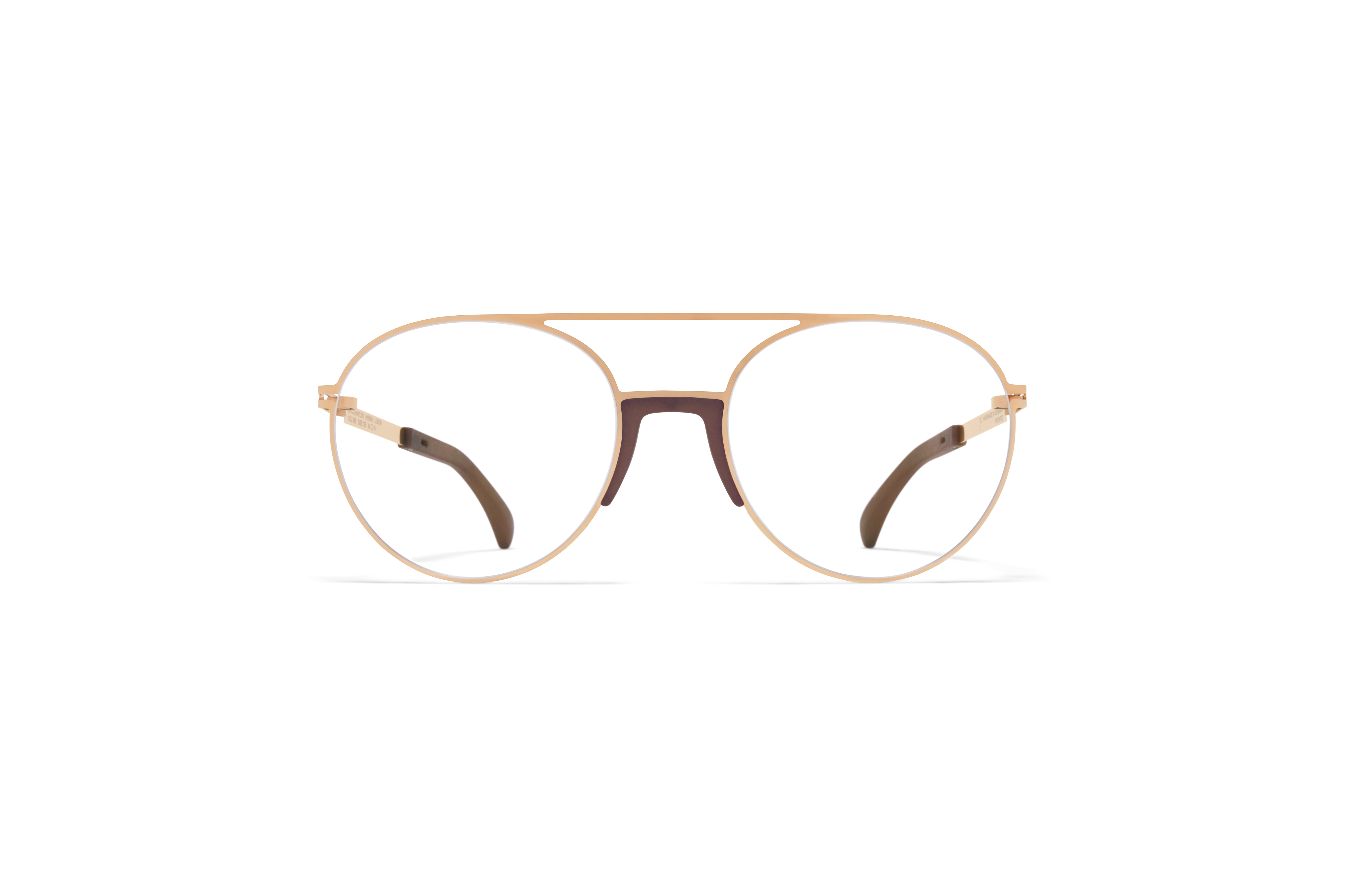 MYKITA Mylon Rx Lemon Mh17 Taupe Champagne Gold Clear