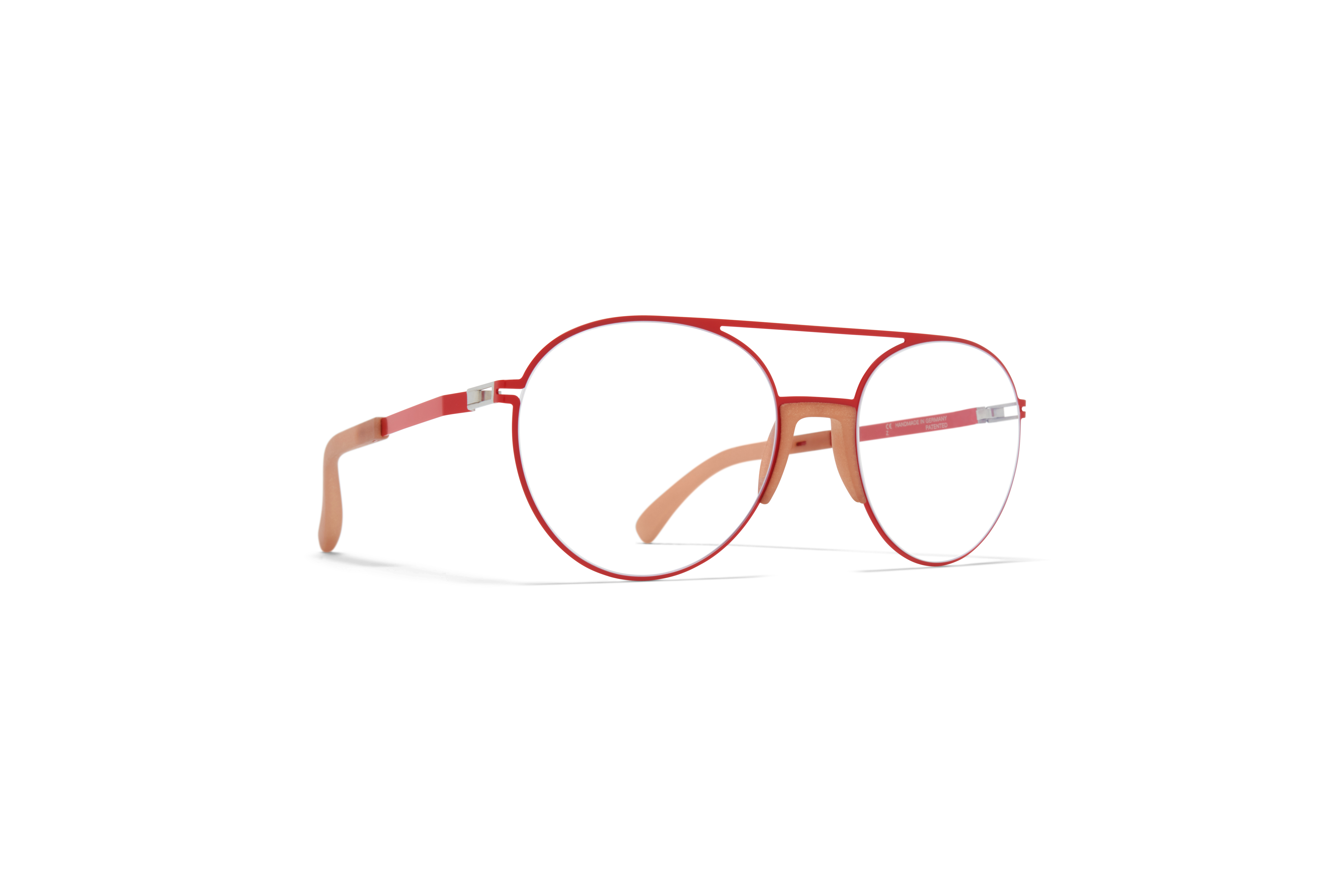 MYKITA Mylon Rx Lemon Mh46 Nude Coral Red Clear