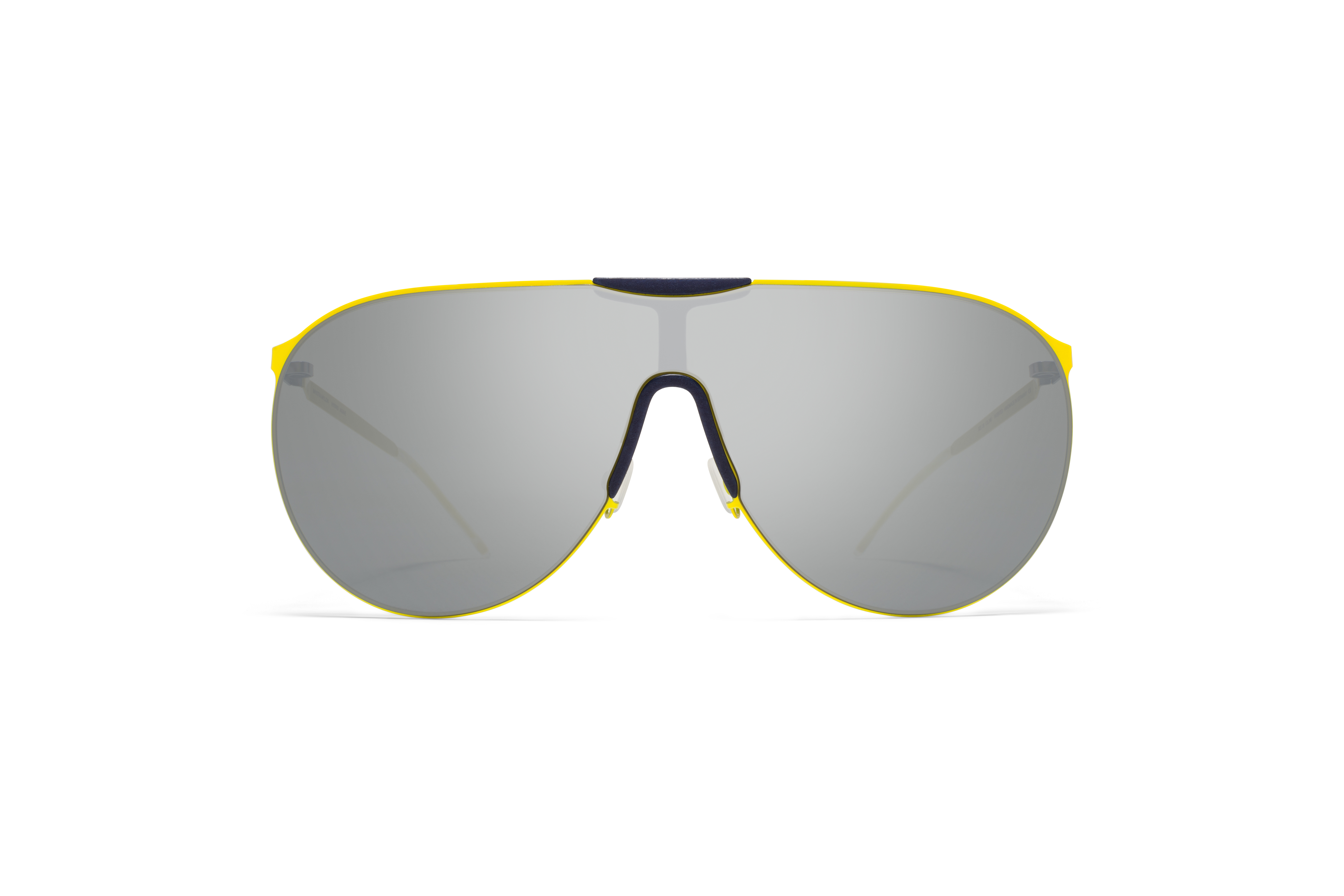 MYKITA Mylon Sun Agave Mh19 Navy Blue Neon Yellow Silver Flash Shield
