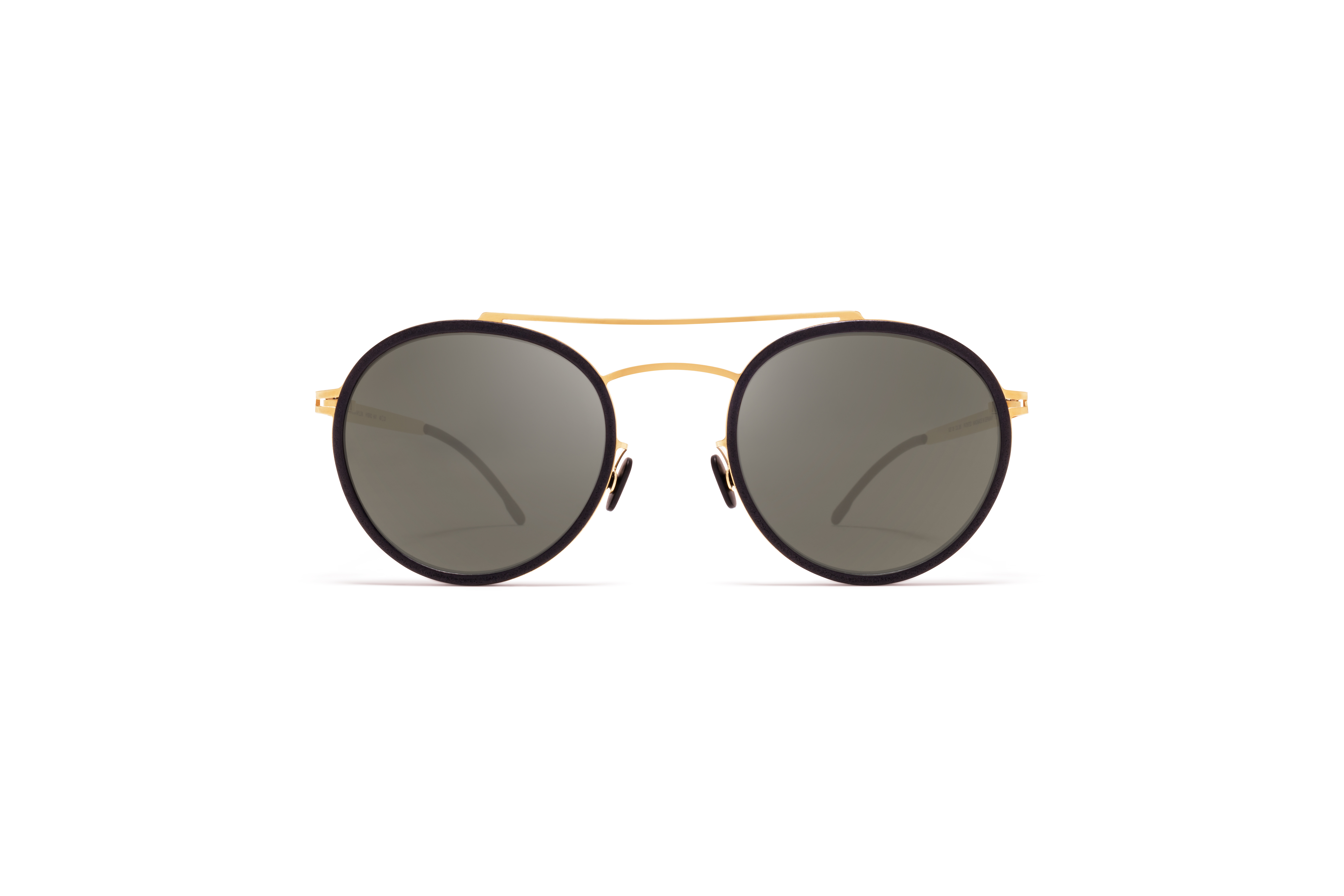 MYKITA Mylon Sun Hay Mh7 Pitch Black Glossy Gold Gun Metal Flash
