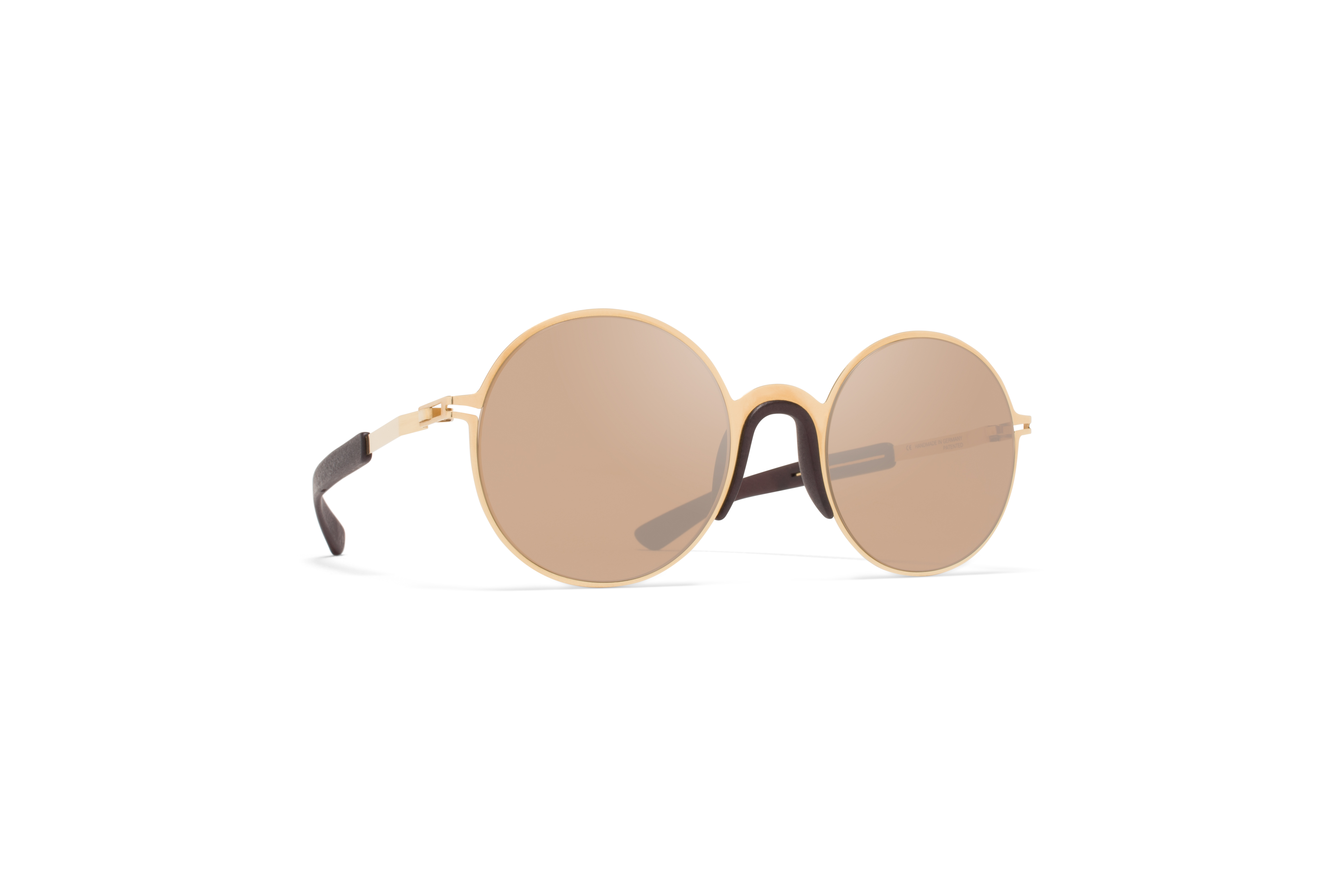 MYKITA Mylon Sun Ivy Mh2 Gold Ebony Brown Sienna