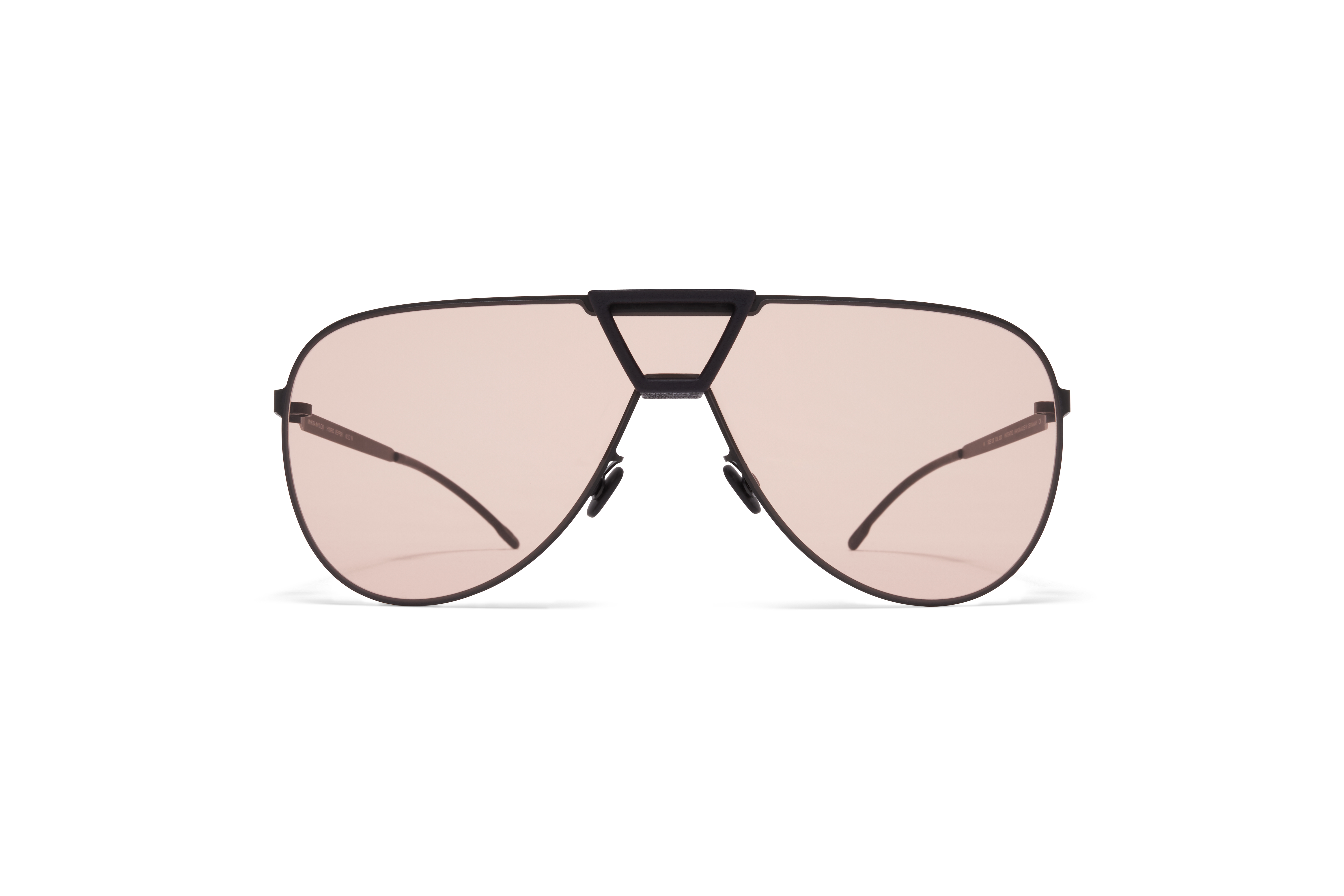 MYKITA Mylon Sun Pepper Mh1 Black Pitch Black Nude Solid Shield