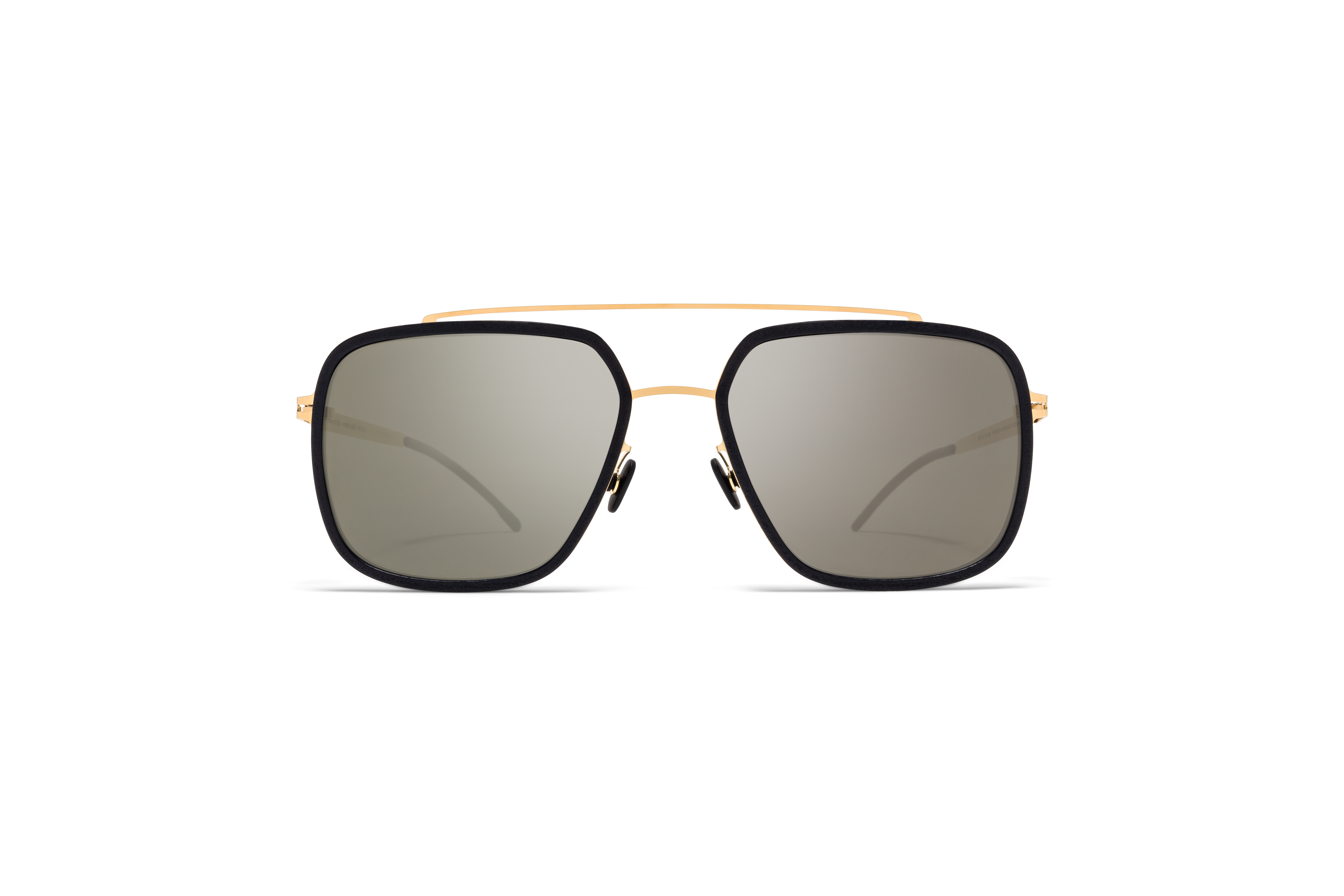 MYKITA Mylon Sun Reed Mh7 Pitch Black Glossy Gold Gun Metal Flash