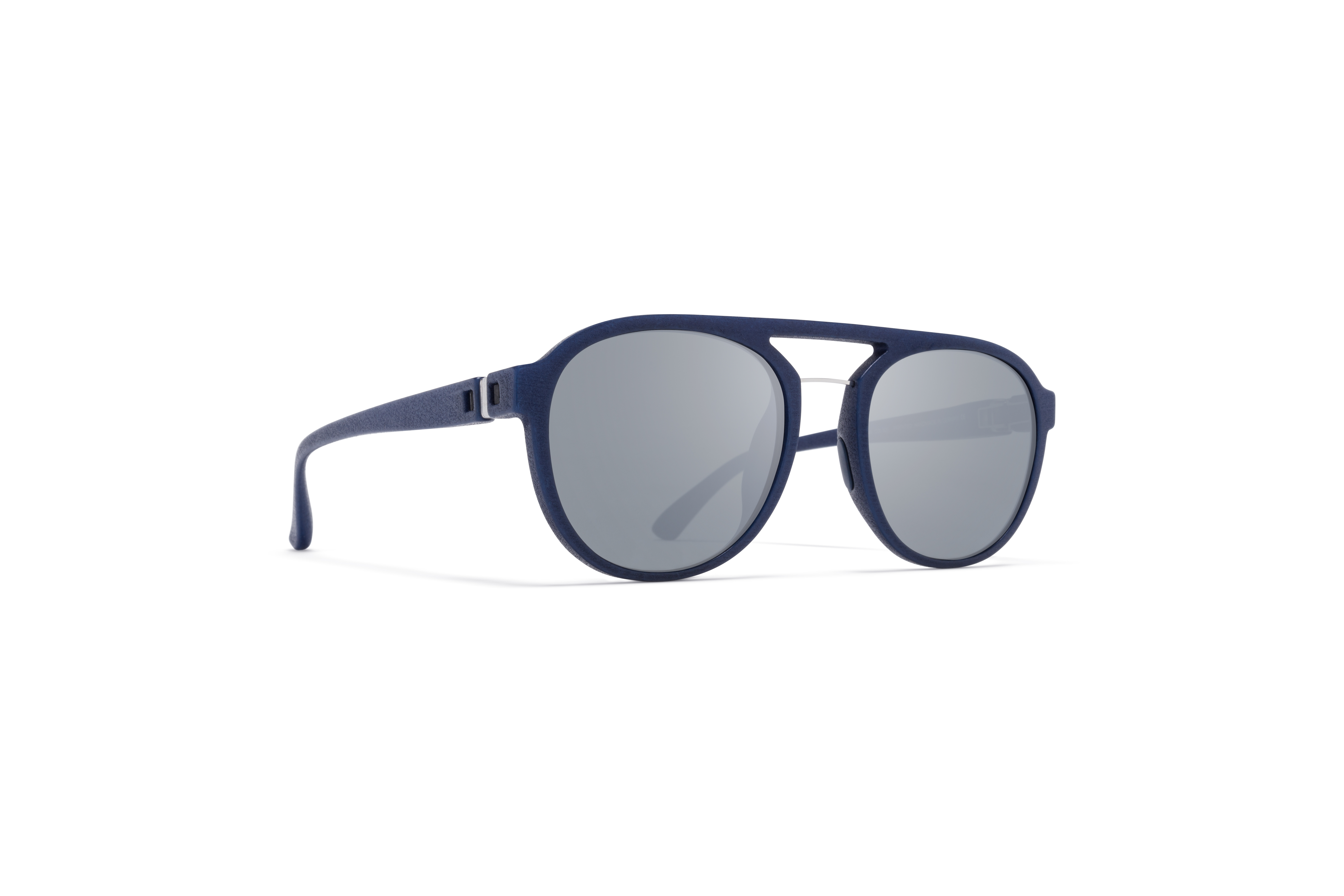 MYKITA Mylon Sun Sting Mmt4 Navy Blue Silver Mesh Light Silver Flash
