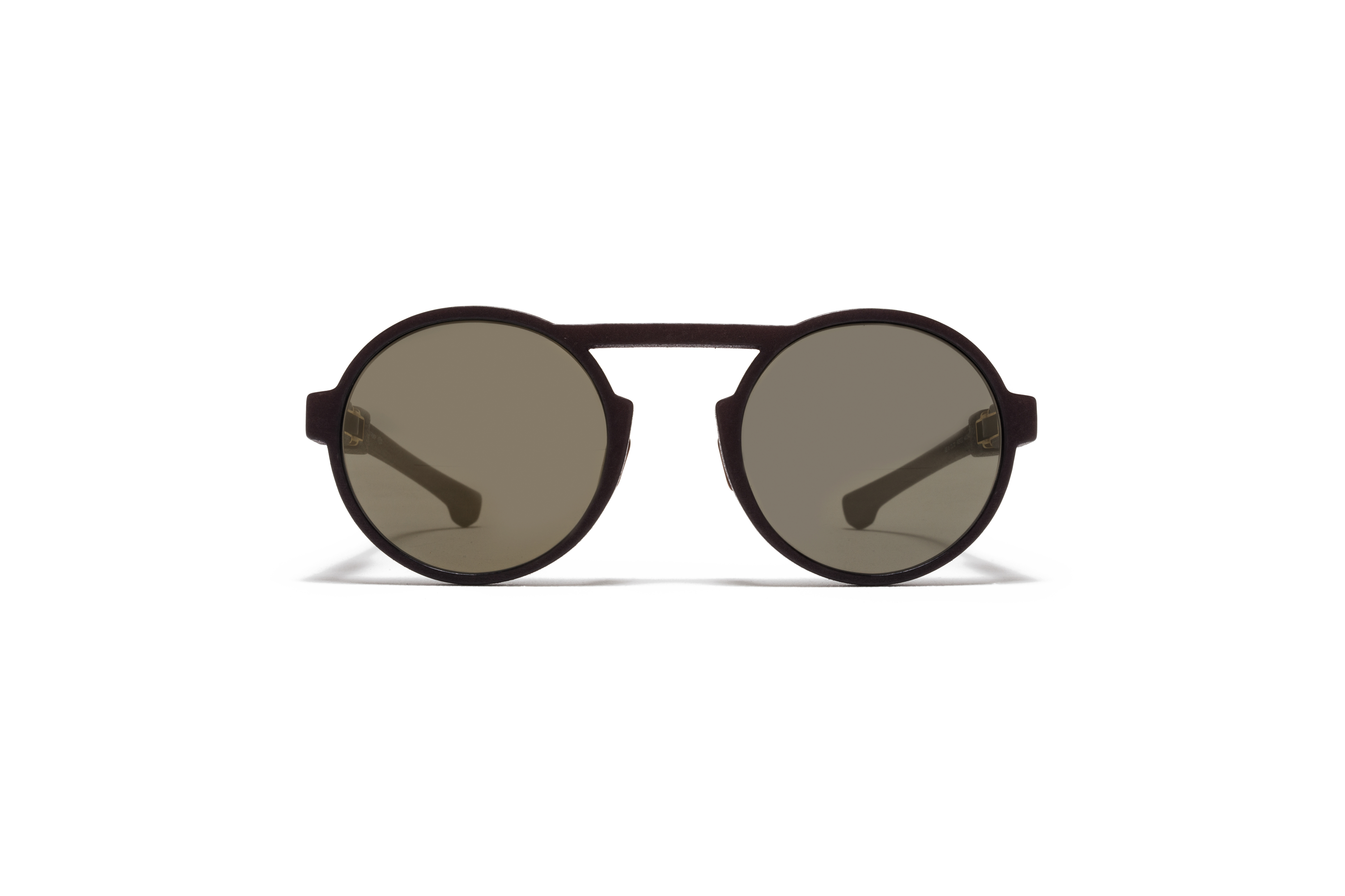 MYKITA Mylon Sun Thunder Md22 Ebony Brown Gun Metal Flash