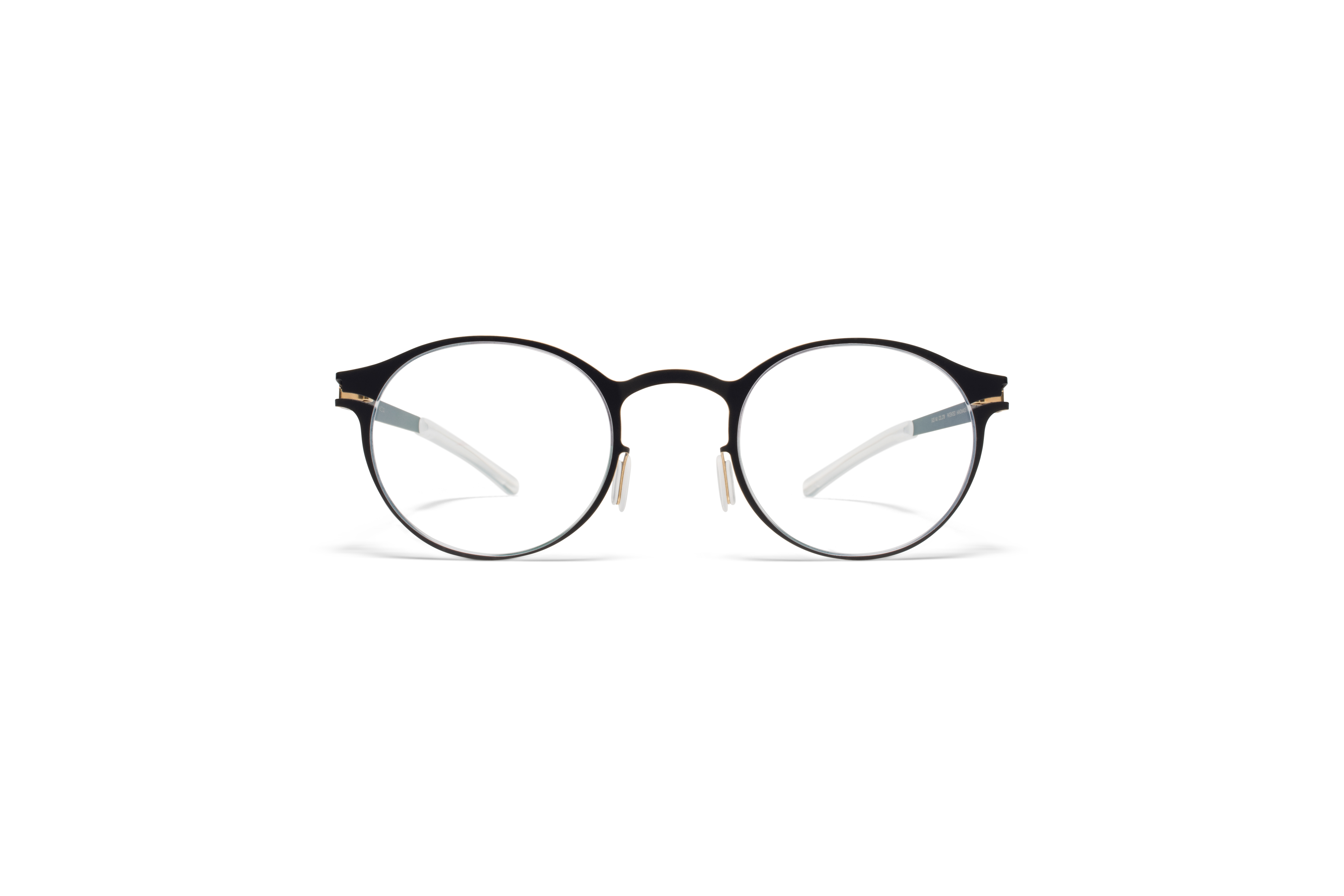 MYKITA No1 Rx Isaac Black Gold Edges Clear