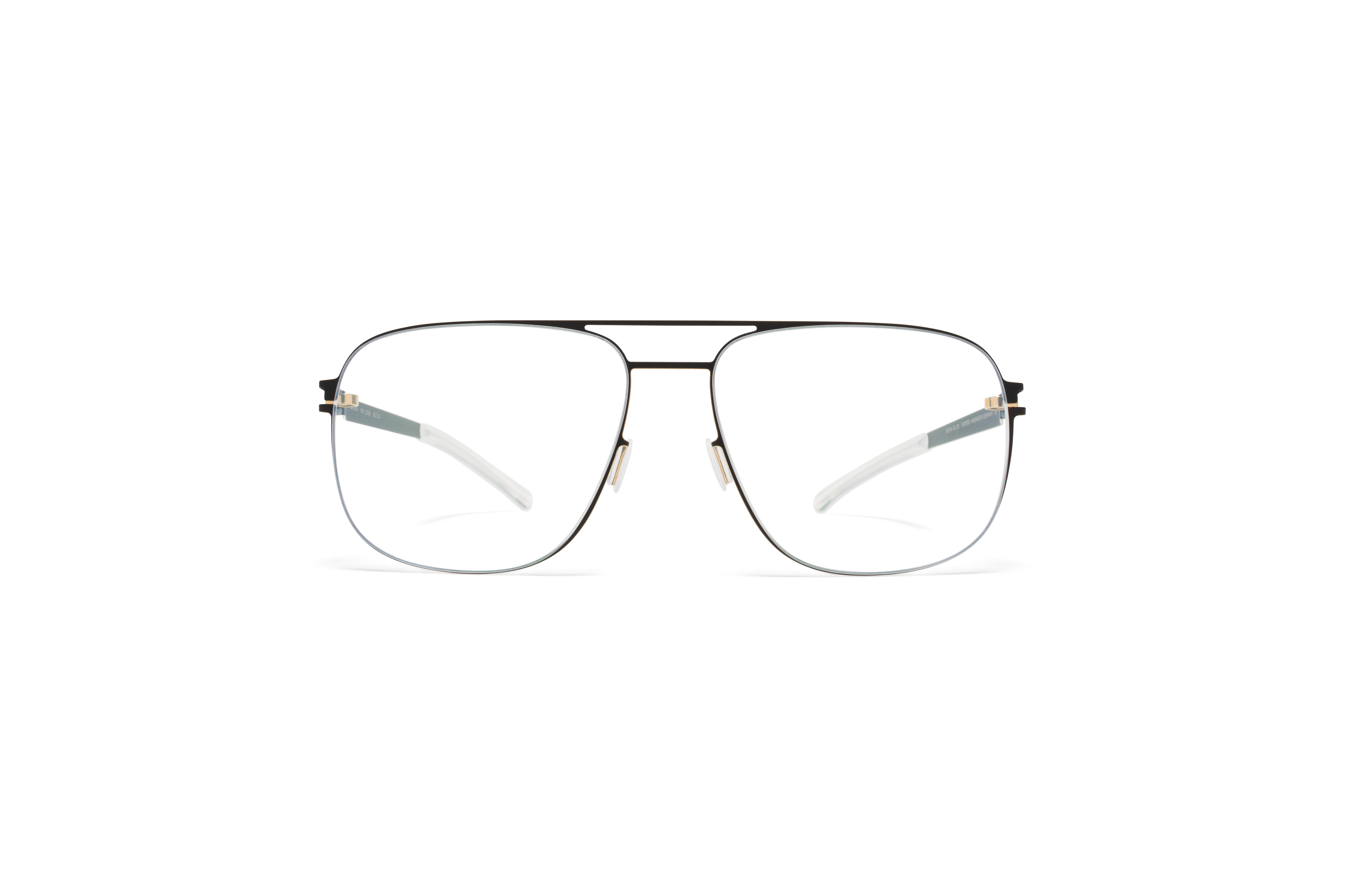 MYKITA No1 Rx Louis Black Gold Edges Clear