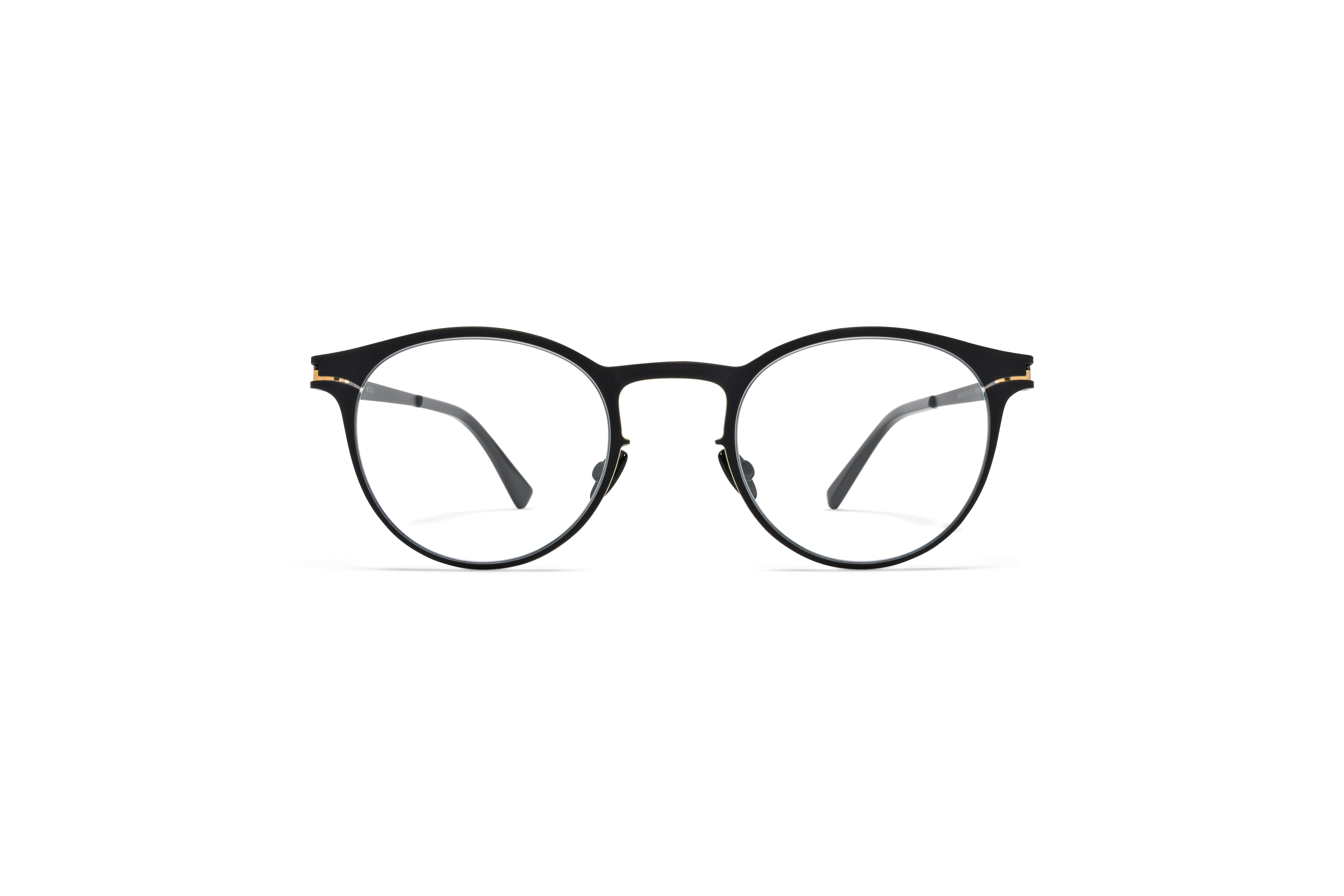 MYKITA No1 Rx Maximilian Black Gold Edges Clear