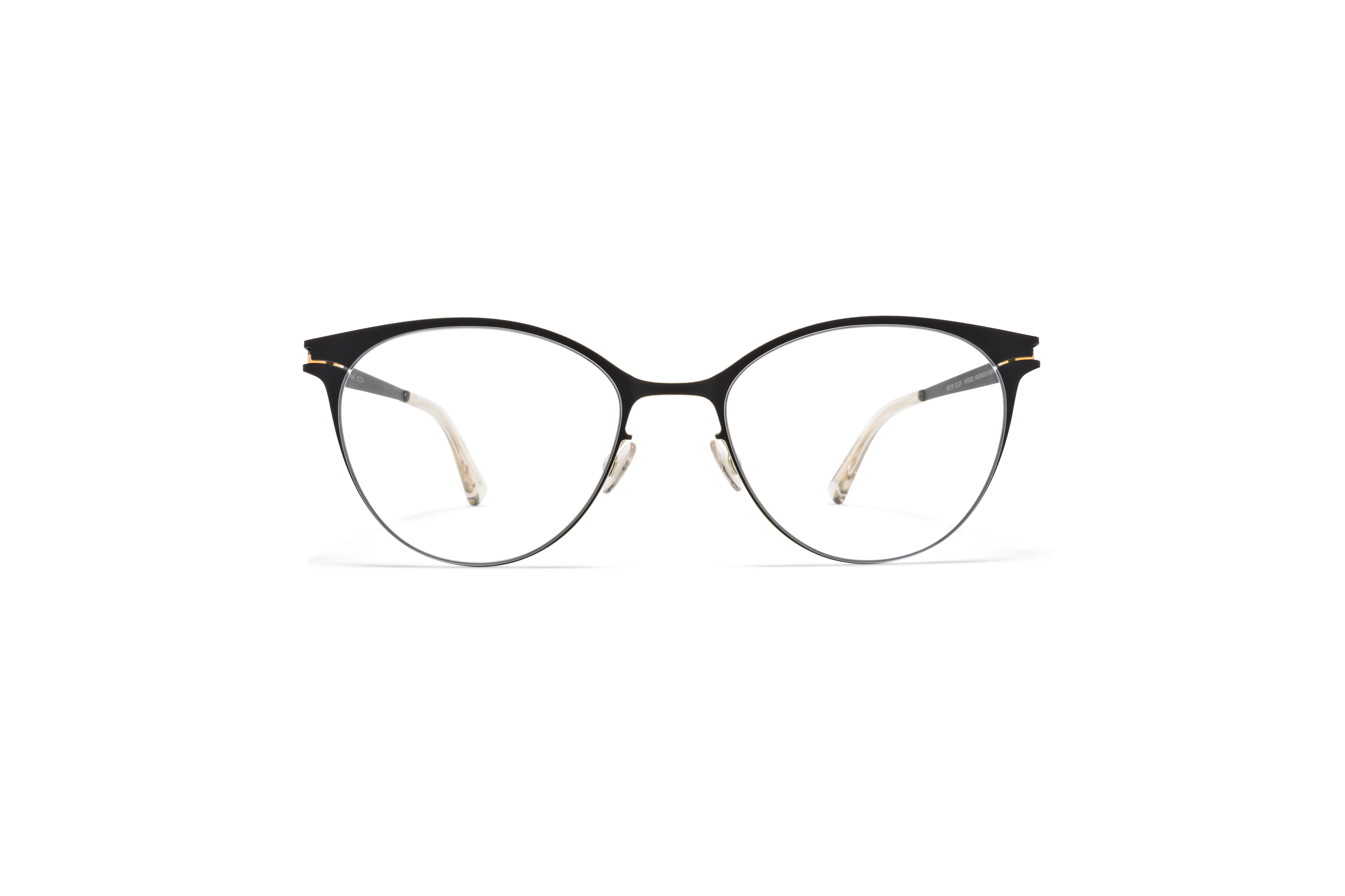 MYKITA No1 Rx Serena Black Gold Edges Clear