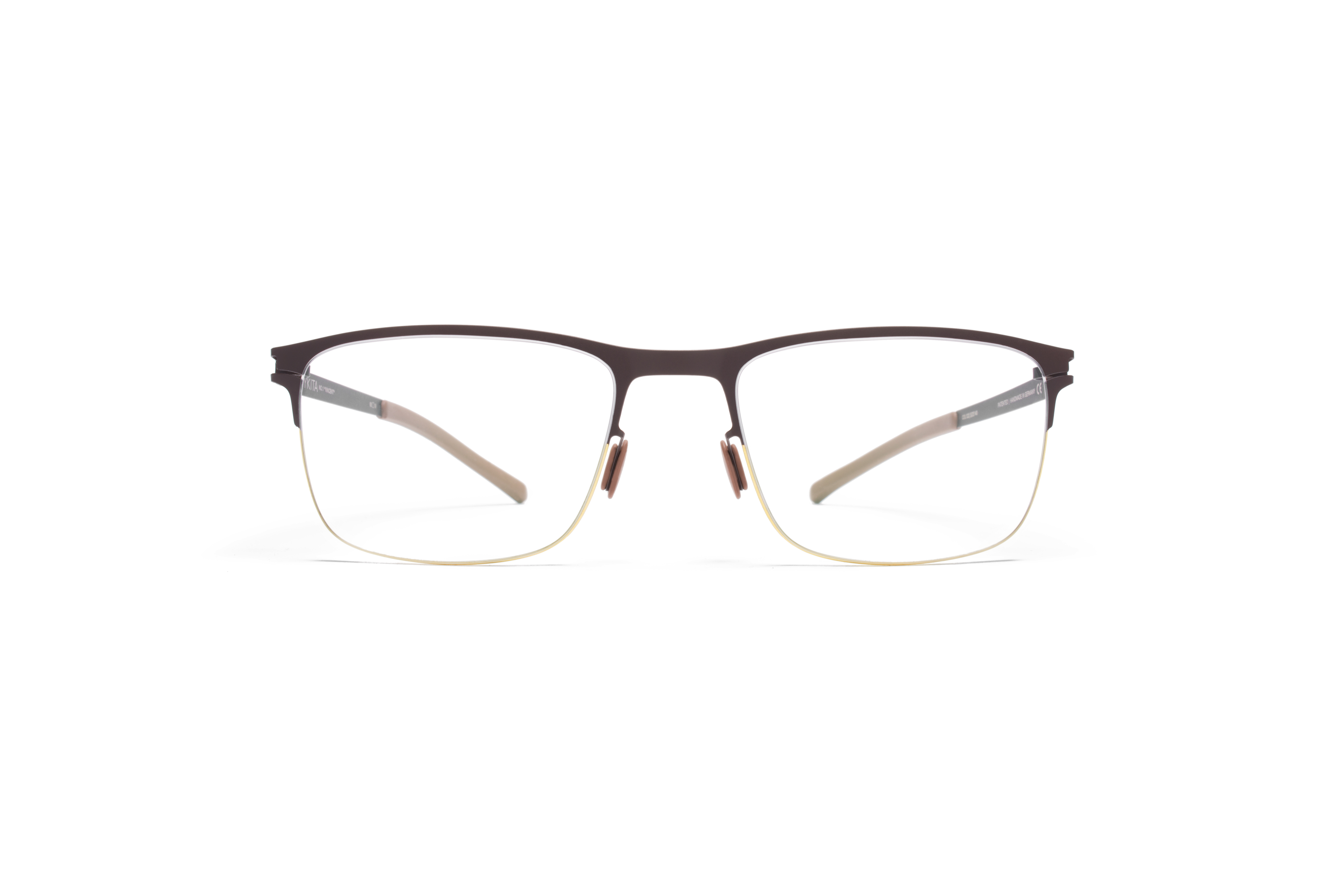 MYKITA No1 Rx Vincent Gold Darkbrown Clear