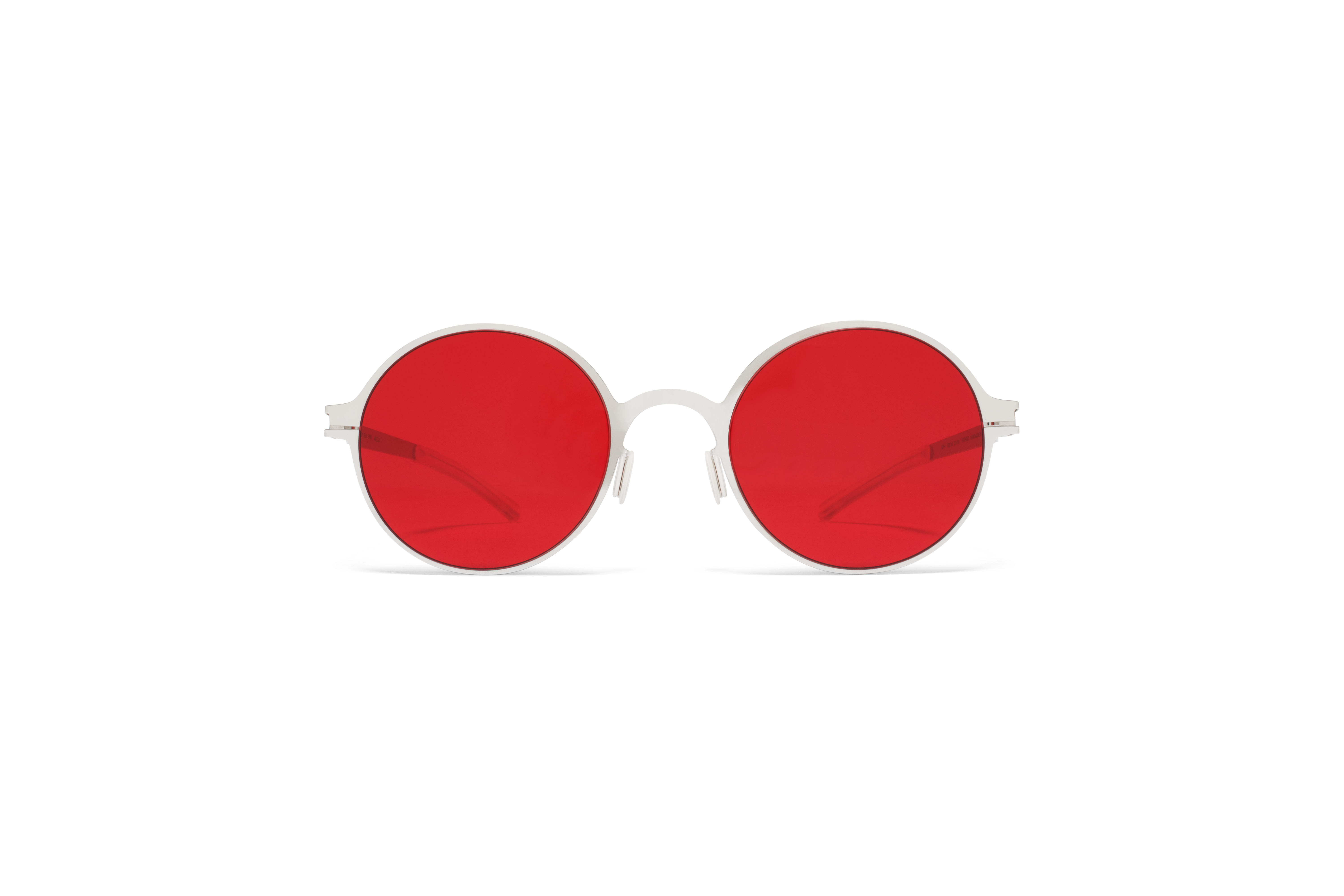 MYKITA No1 Sun Erin Shiny Silver Ultra Red Solid