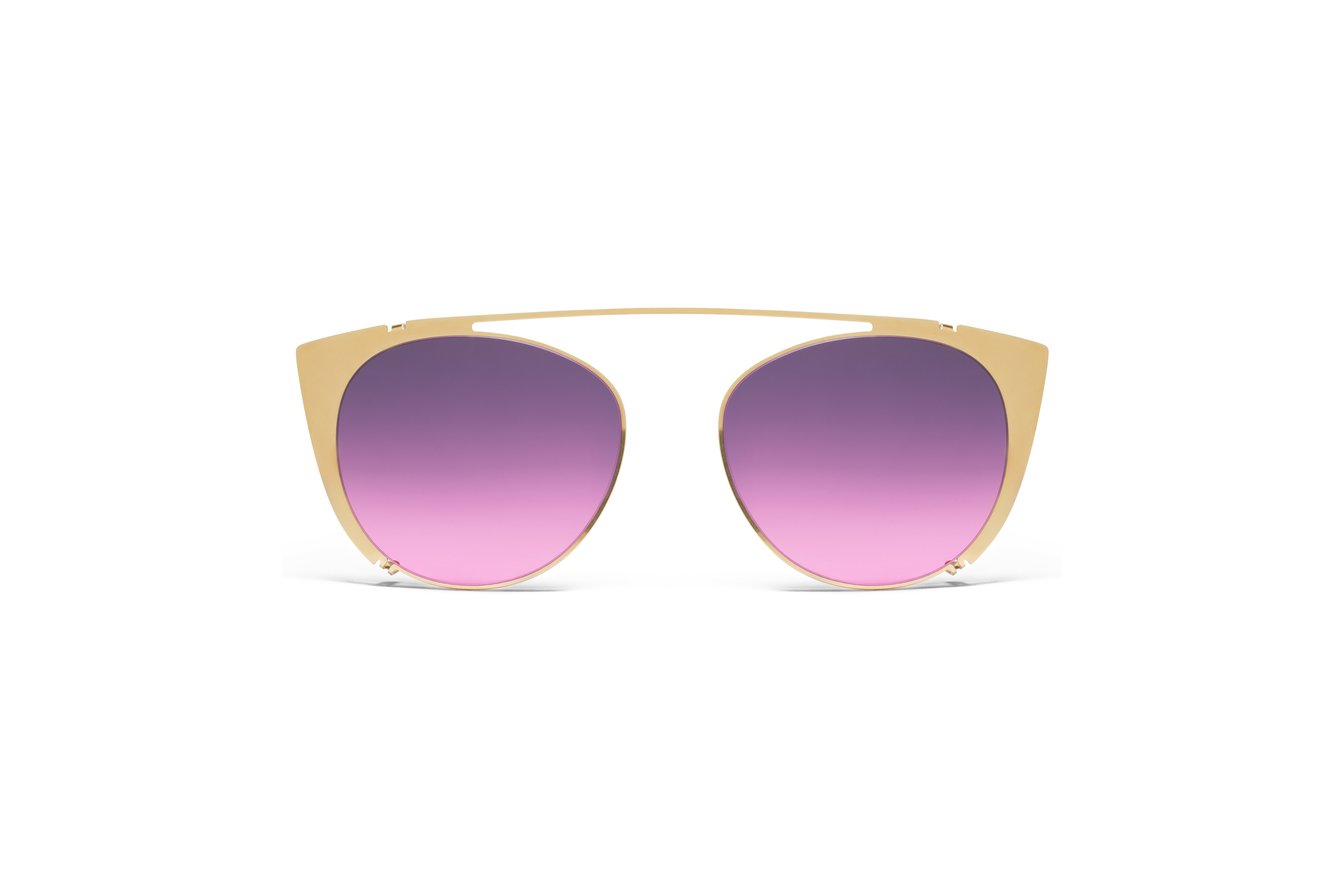 MYKITA No2 Sun Teresa Shades Glossygold Purple Pin