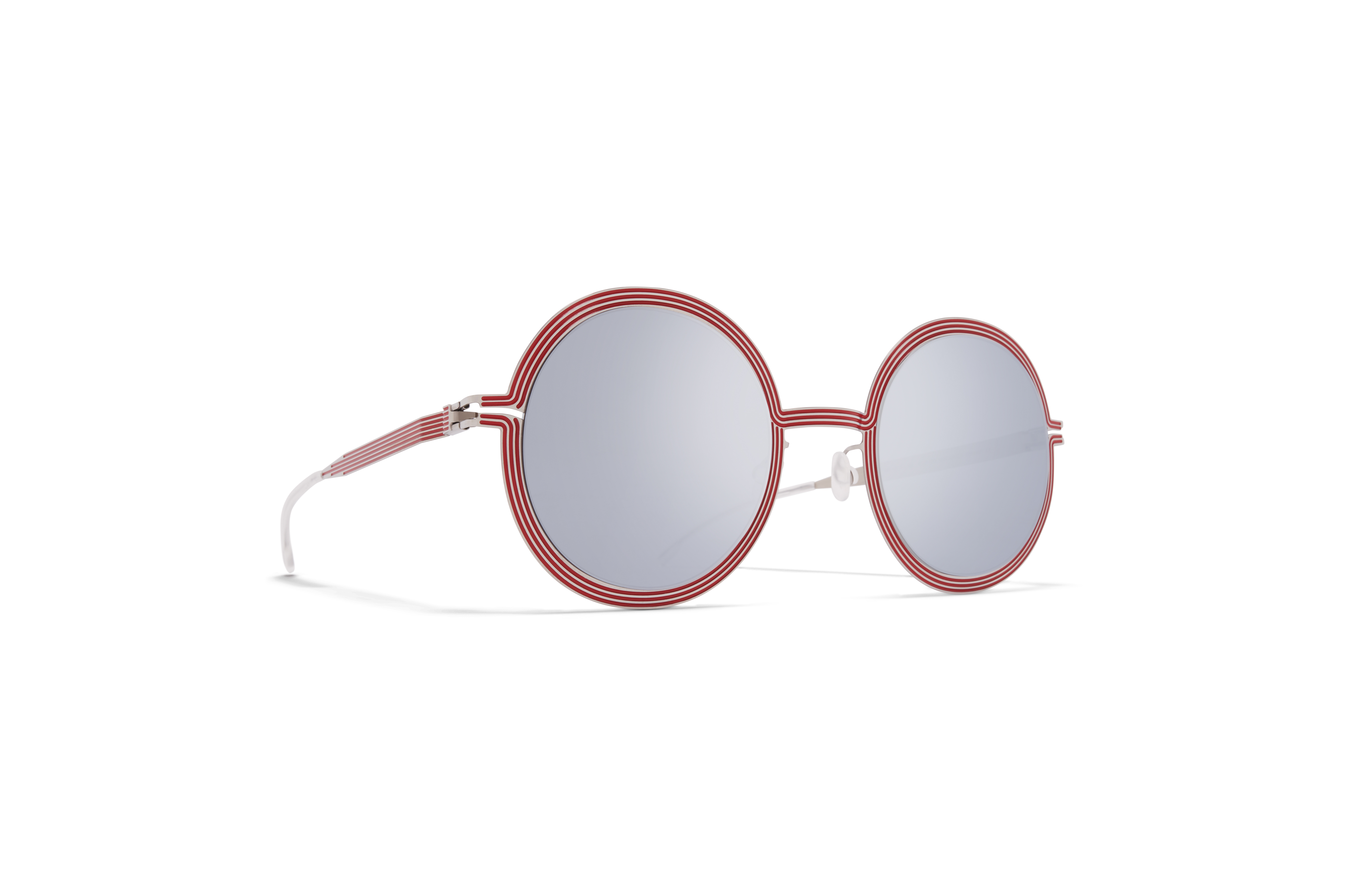 MYKITA Studio Sun Studio Shiny Silver Red Silver Flash