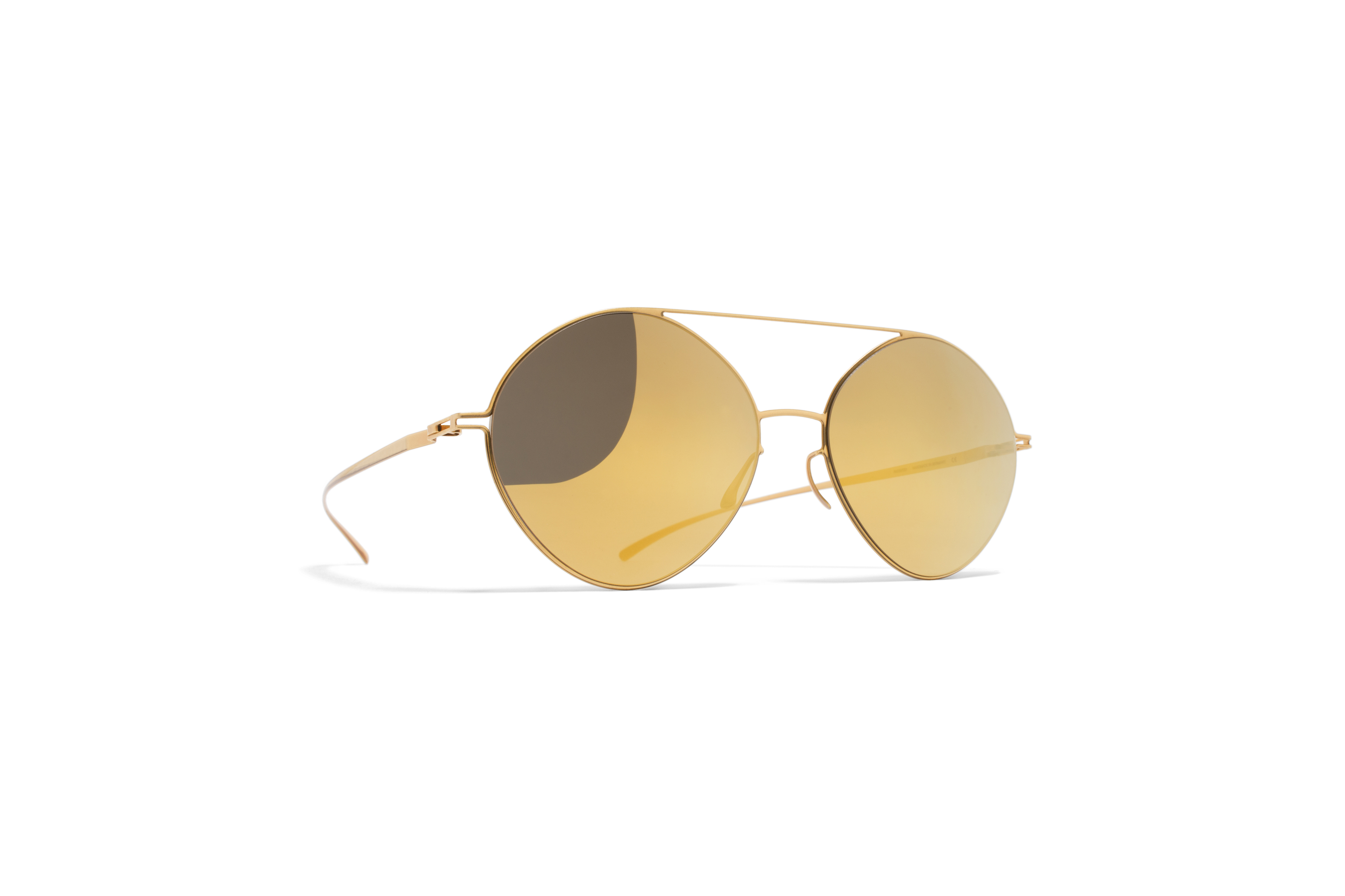 MYKITA Collmmm Sun Mmesse008 E2 Gold Gold Flash