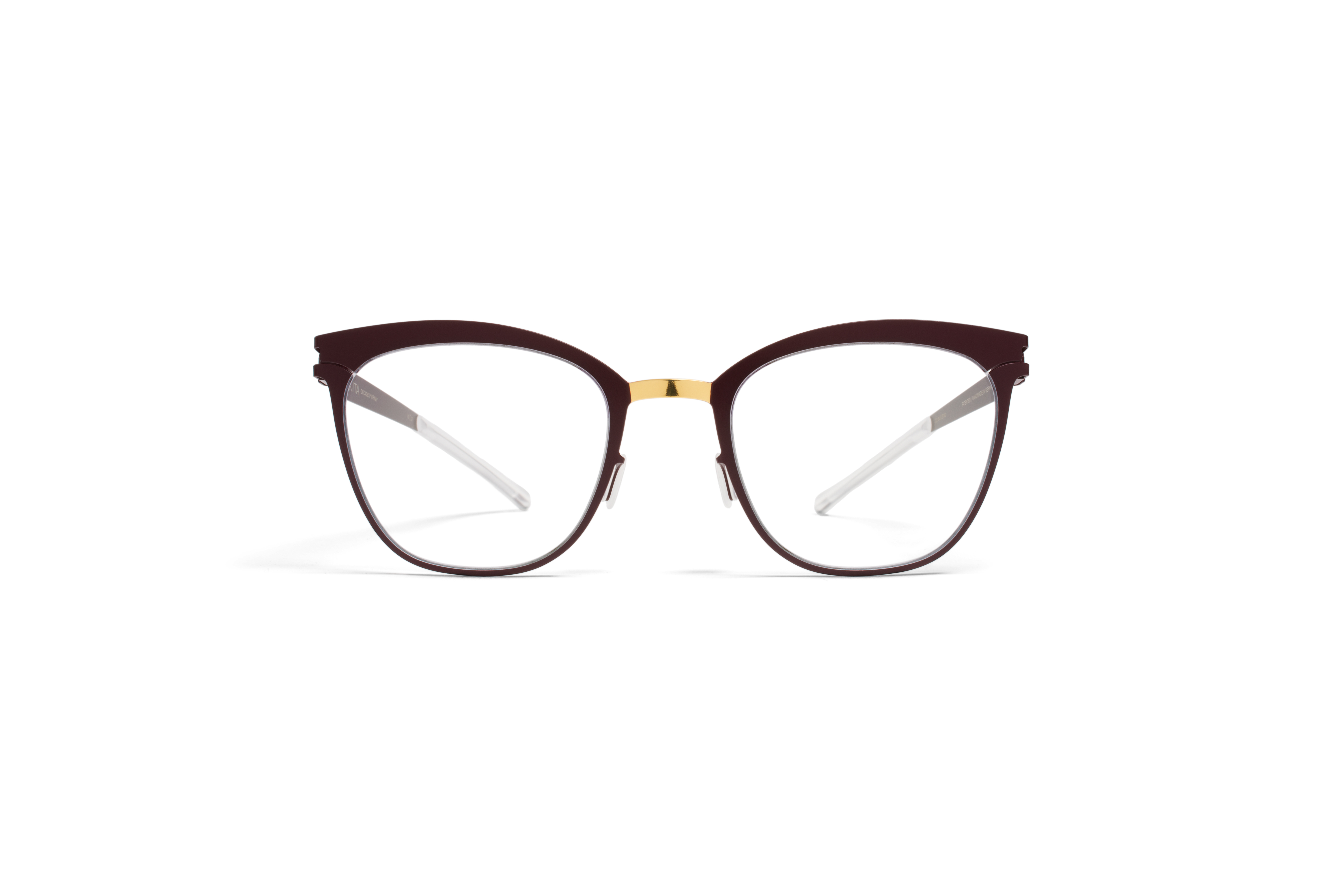 MYKITA Decades Rx Virna Gold Burgundy Clear