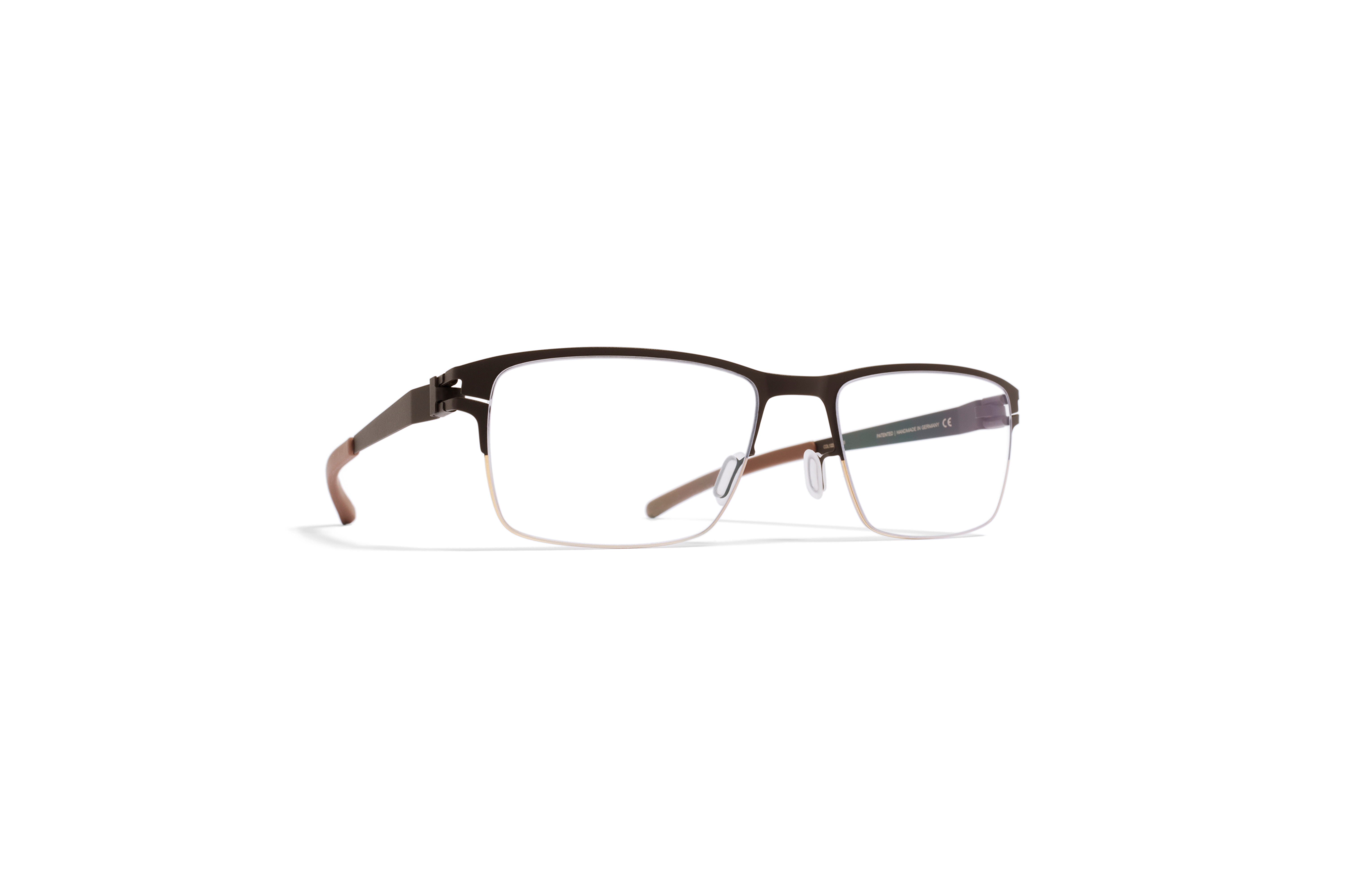 MYKITA No1 Rx Ted Gold Darkbrown