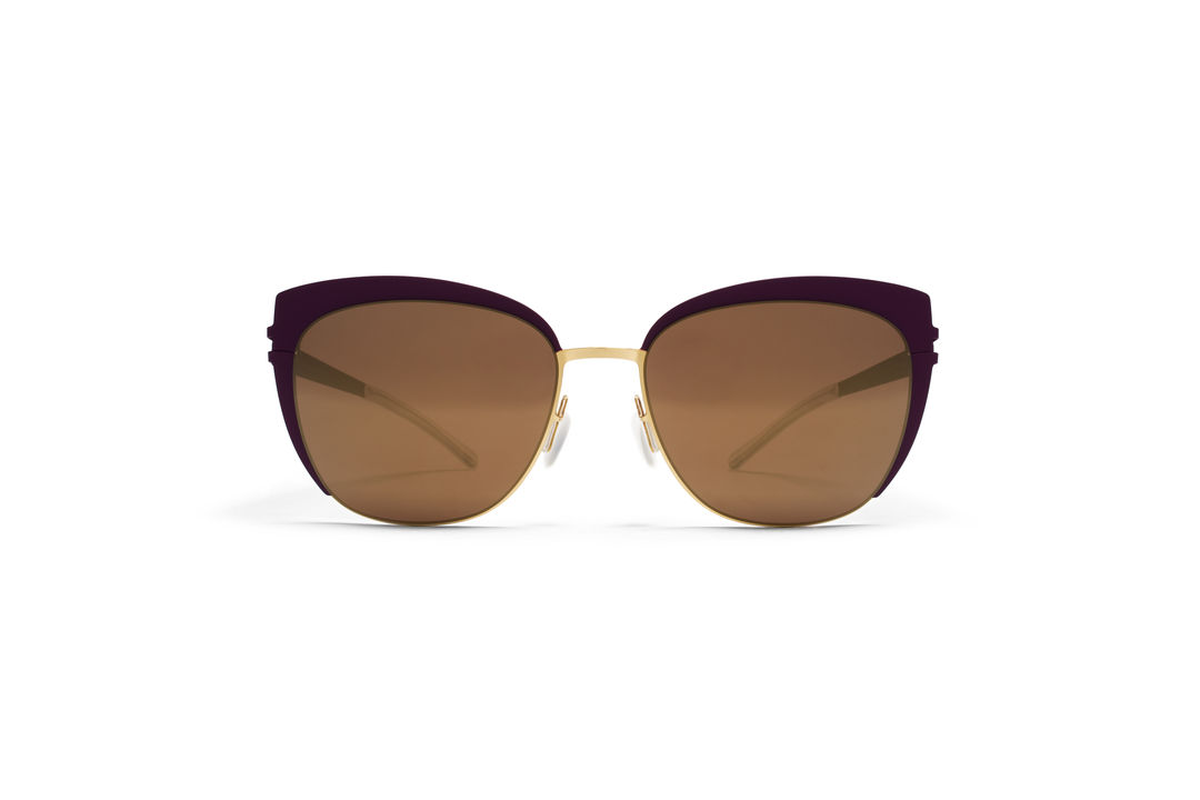 86d84260ac MYKITA - DECADES SUN   BELLYN   Frame  Gold Purple Violet Lens  Brilliant  Burgundy Solid