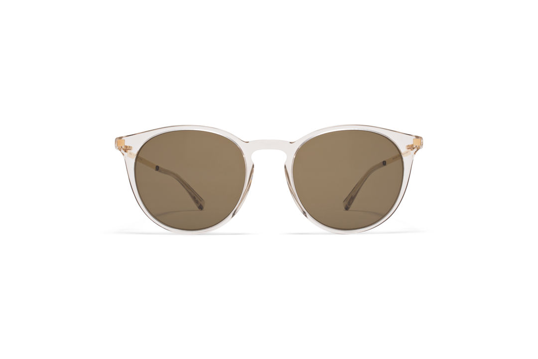 f6c95b2639 MYKITA - LITE SUN   KEELUT   Frame  C1 Champagne Glossy Gold Lens  Raw  Brown Solid