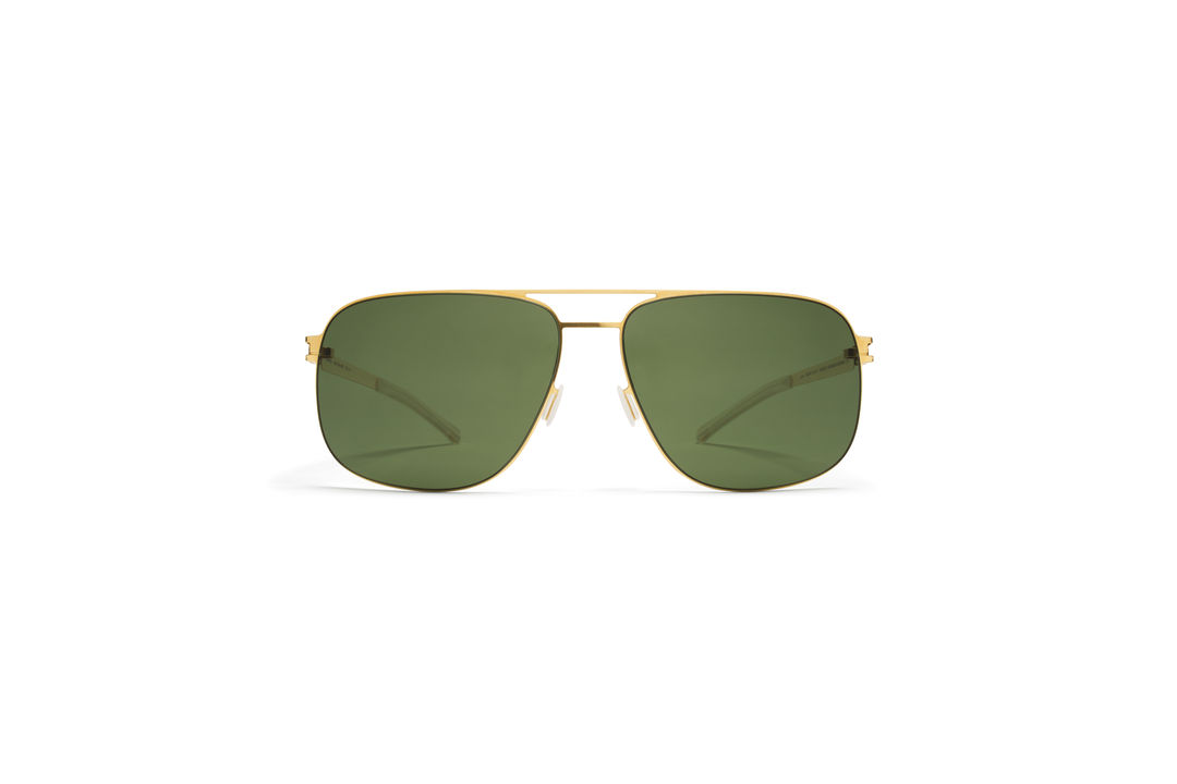 95936a5220bb MYKITA - NO1 SUN   WES   Frame  Glossy Gold Lens  MY+ Fern Polarised